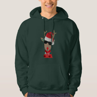super cool rudolph winter Christmas design Hoodie