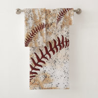 Super Cool Rustic Baseball Towel Set