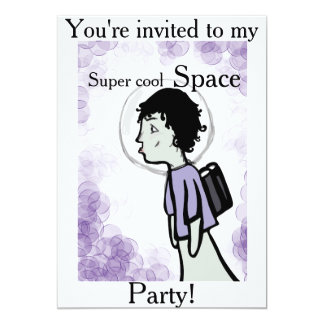 Super cool space party alien invitation