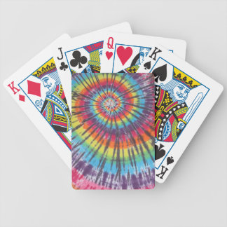 Super Cool Tie Dye Bicycle Playing Cards