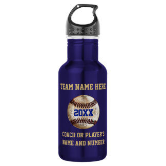 Super Cool Vintage Baseball Gifts PERSONALIZED Water Bottle