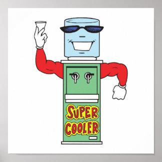 super cool water cooler dispenser poster