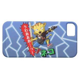 Super Cool Wild Cat Boy with Gun and Sword iPhone SE/5/5s Case