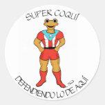 Super Coquí Defendiendo lo de Aquí Sticker