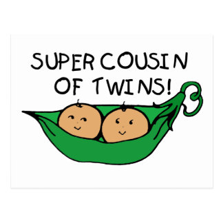 Super Cousin of Twins Pod Postcard