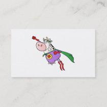 Super Cow Cartoon Business Card