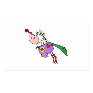 Super Cow Cartoon Double-Sided Standard Business Cards (Pack Of 100)