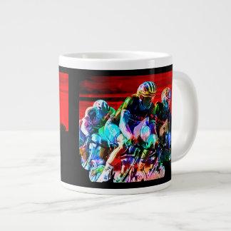 Super Crayon Colored Bicycle Race Giant Coffee Mug
