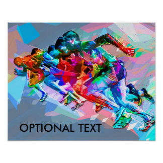Super Crayon Colored Sprinters Poster