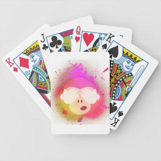 Super Creative Monkey Emoji Spray Paint Art Bicycle Playing Cards