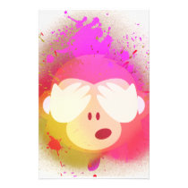Super Creative Monkey Emoji Spray Paint Art Stationery
