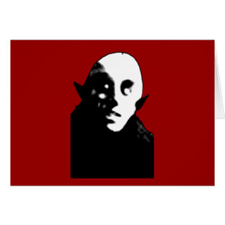 Super Creepy Nosferatu Face T-shirts, Mugs Card