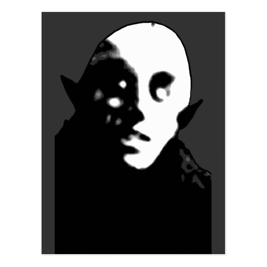 Super Creepy Nosferatu Face T-shirts, Mugs Postcard