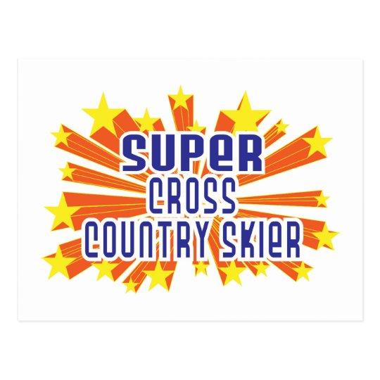 Super Cross Country Skier Postcard