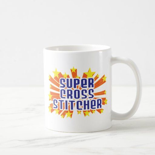 Super Cross Stitcher Classic White Coffee Mug