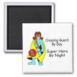 Super Crossing Guard Fridge Magnet