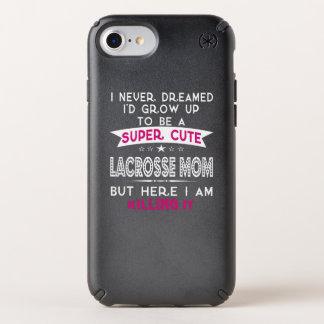 SUPER CUTE A LACROSSE MOM SPECK iPhone CASE