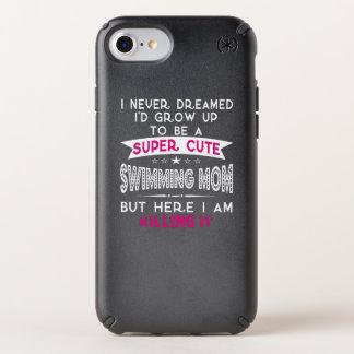 SUPER CUTE A SWIMMING MOM SPECK iPhone CASE