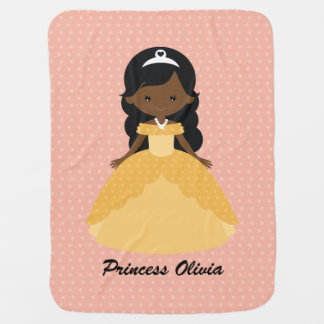 Super Cute Afro American Princess Swaddle Blanket