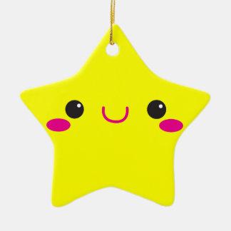 Super Cute anime Kawaii cutie face! NP Ceramic Ornament