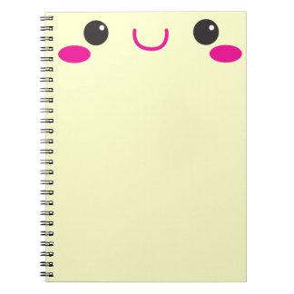 Super Cute anime Kawaii cutie face! NP Spiral Notebook