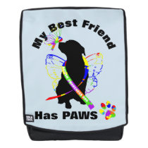 Super Cute Autism Awareness Support Dog Owners Backpack