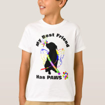 Super Cute Autism Awareness Support Dog Owners T-Shirt