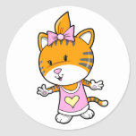 Super Cute Baby Girl Tiger Stickers