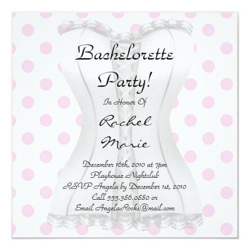 Super Cute Bachelorette Party Custom Announcements