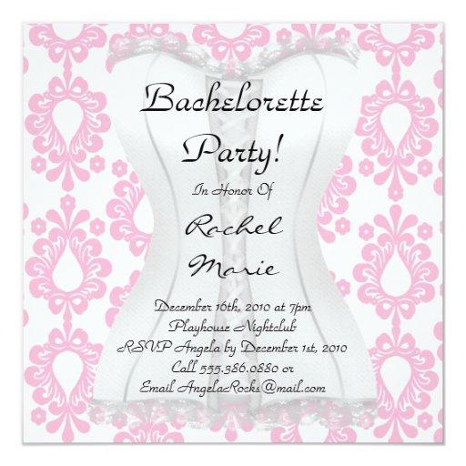 Super Cute Bachelorette Party 5.25x5.25 Square Paper Invitation Card