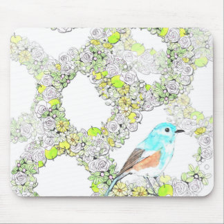 Super cute blue bird mouse propellant-actuated dev mouse pad