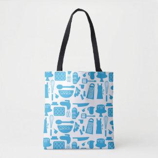 Super Cute Blue Kitchenware Tote Bag