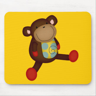 SUPER CUTE BROWN TOY MONKEY STUFFED ANIMALS HAPPY MOUSE PAD
