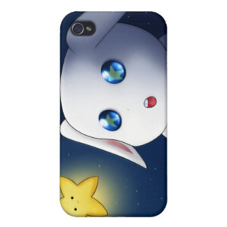 Super cute bunny rabbit catching stars iPhone 4 case