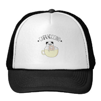 Super Cute CaPUGccino! Pugs & Coffee, what else? Trucker Hat