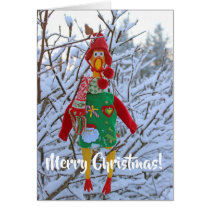 Super Cute Chicken Christmas Greeting Card! Card