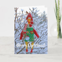 Super Cute Chicken Christmas Greeting Card! Holiday Card