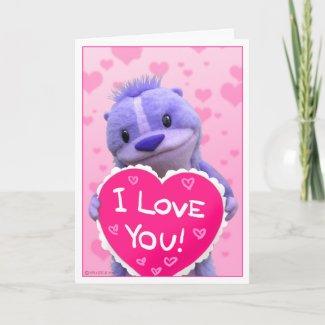 Super Cute Chipmunk Valentine card
