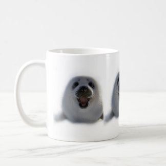 super cute crazy adorable baby seal pup coffee mug
