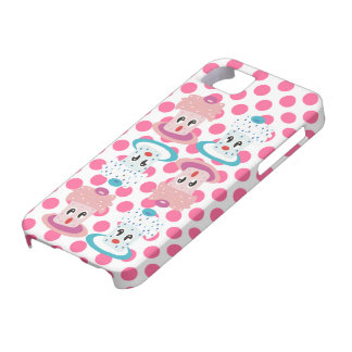 Super Cute Cupcakes Pink Polka Dots iPhone Case