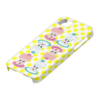 Super Cute Cupcakes Yellow Polka Dos iPhone Case