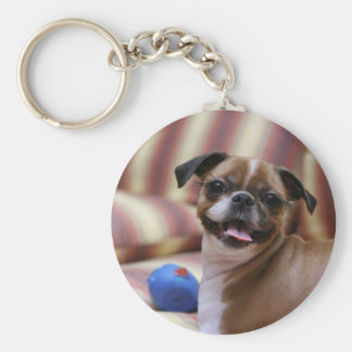 Super Cute dog with her favourite ball Keychain