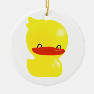 Super Cute Ducky Round Ornament