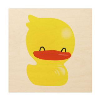 Super Cute Ducky Wood Canvas