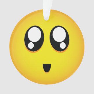 super cute emoji ornament