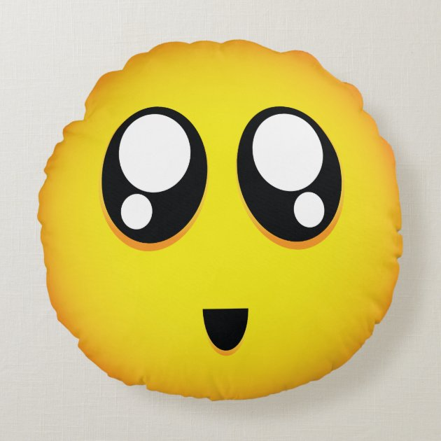 super cute emoji round pillow | Zazzle