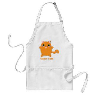 super cute ginger cat adult apron
