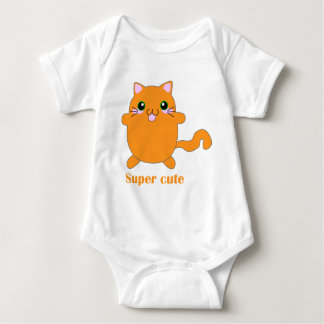 super cute ginger cat baby bodysuit