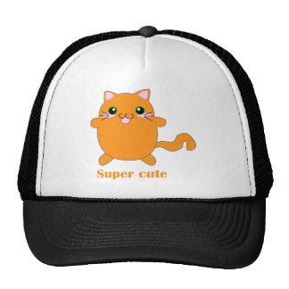 super cute ginger cat trucker hat