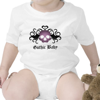 Super cute goth vampire skull for baby t shirts
